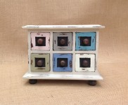 Shabby chic trinket box in an array of colours