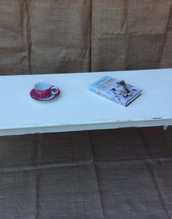 Coffee table painted in colour 'Regency White', slightly distressed and completed with a clear wax.