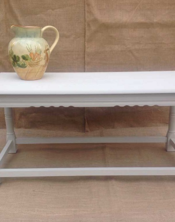 Oblong coffee table with detailed edging. Painted in colour Almond