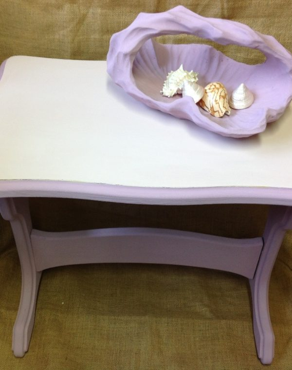 Pretty in pink side table, two shades of pink complement each other perfectly